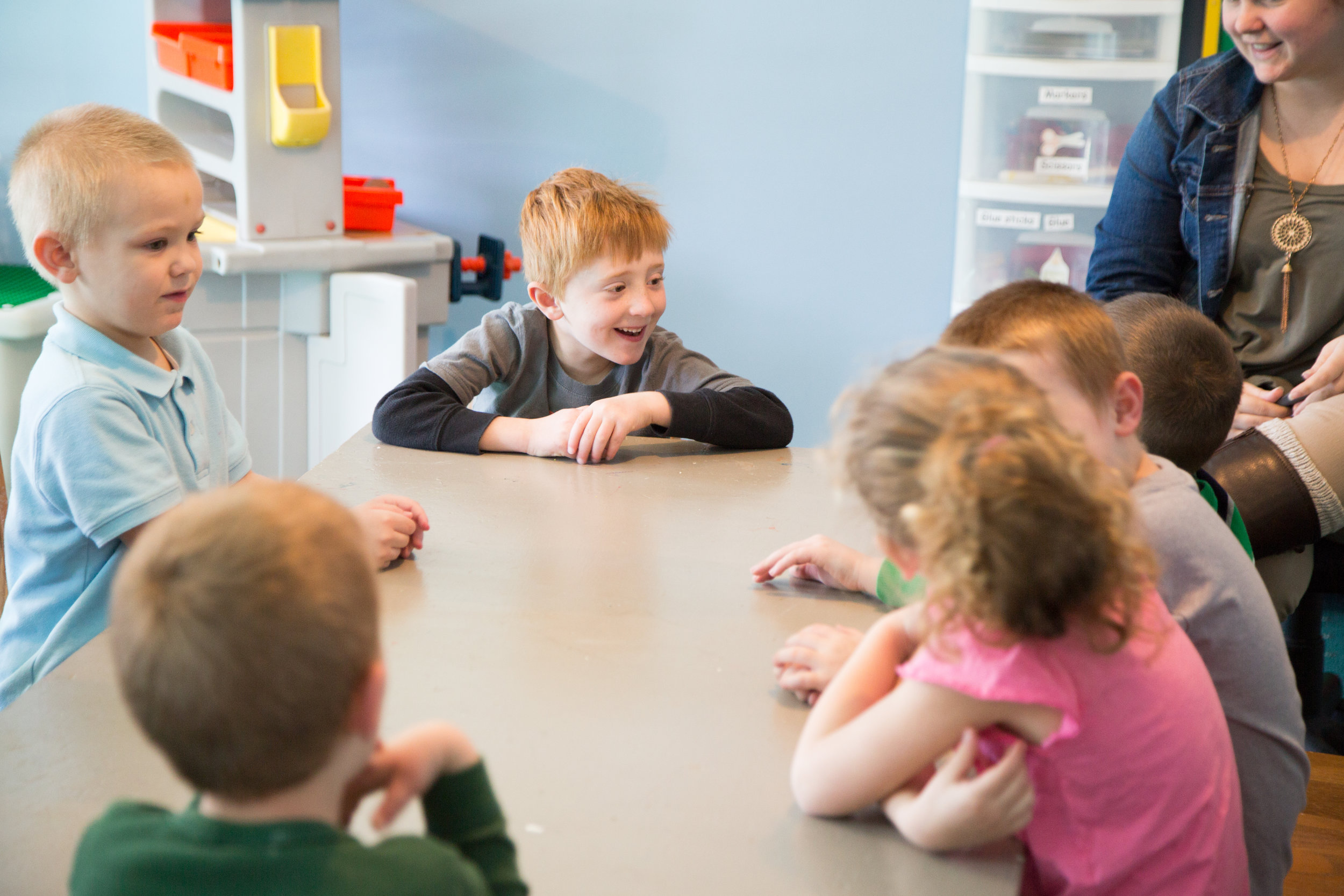 elementary age kids in class