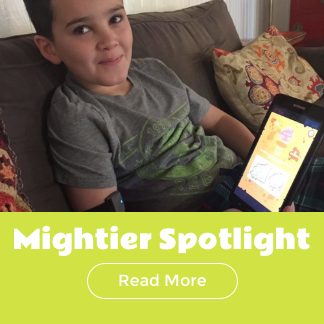 Meet Tate, he helps shape Mightier games for all the other kids who use our products.