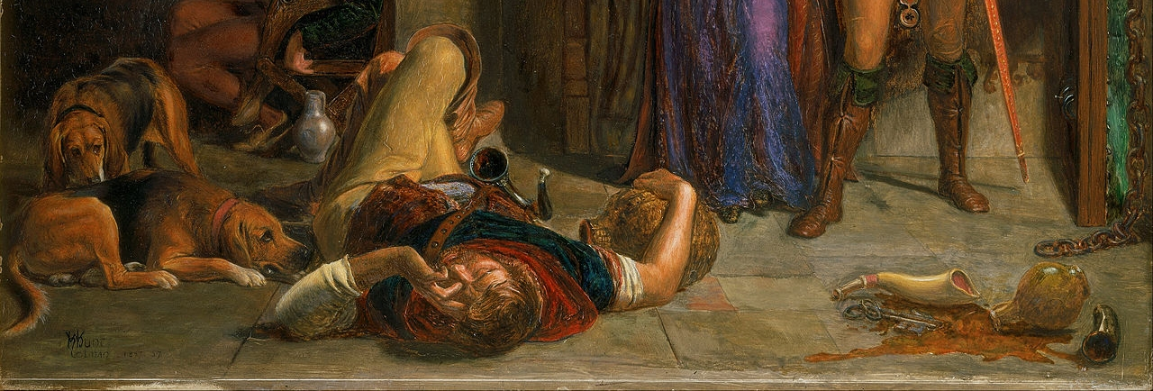 1280px-William_Holman_Hunt_-_The_flight_of_Madeline_and_Porphyro_during_the_drunkenness_attending_the_revelry_(The_Eve_of_St._Agnes)_-_Google_Art_Project.jpg