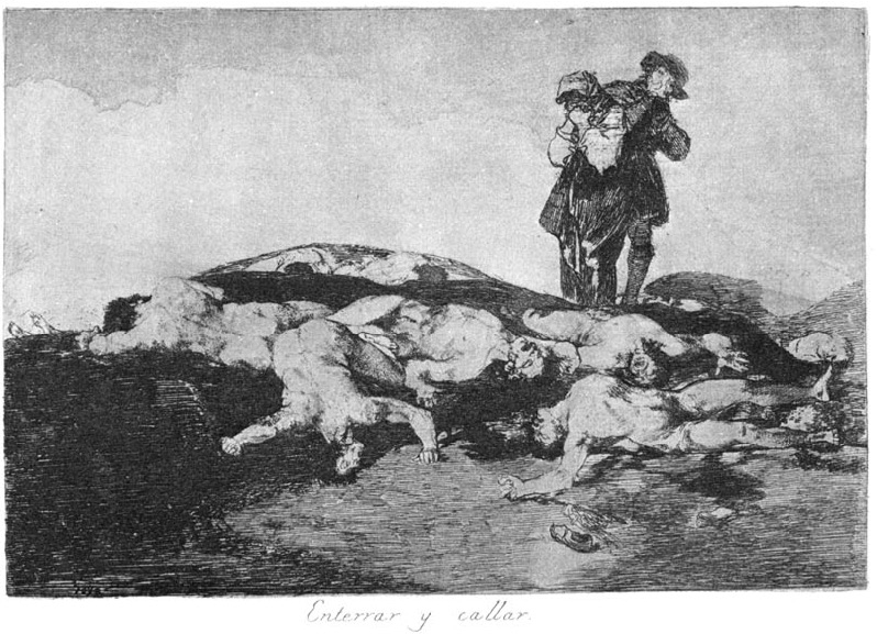 "Enterrar y callar (Bury them and keep quiet), plate 18 of ""The Disaster of War"": Francisco Goya"