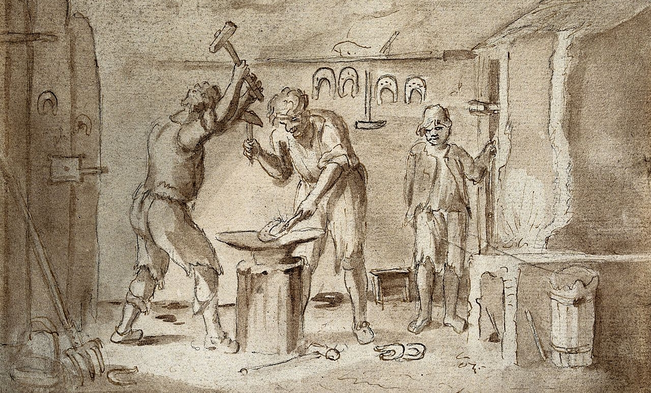 1280px-A_blacksmith's_forge._Pen_and_ink_drawing._Wellcome_V0049598.jpg