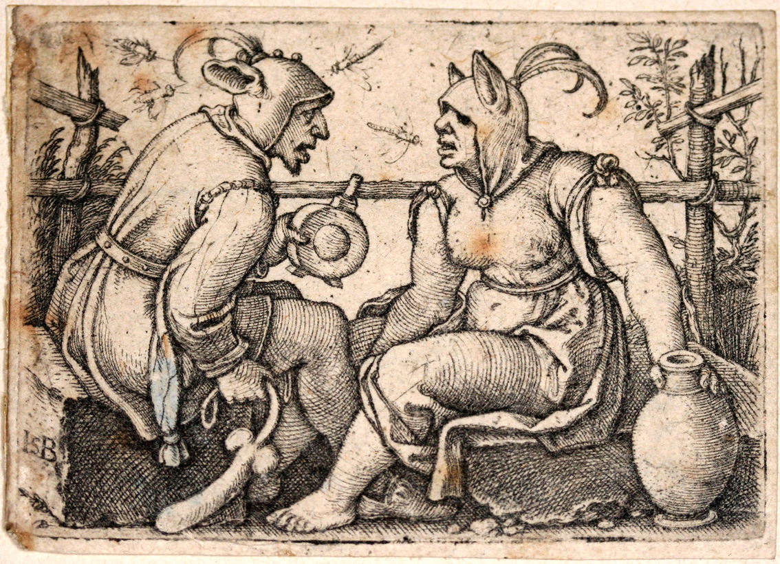 Narr und Närrin     …  The Fool and the Lady Fool  by Beham