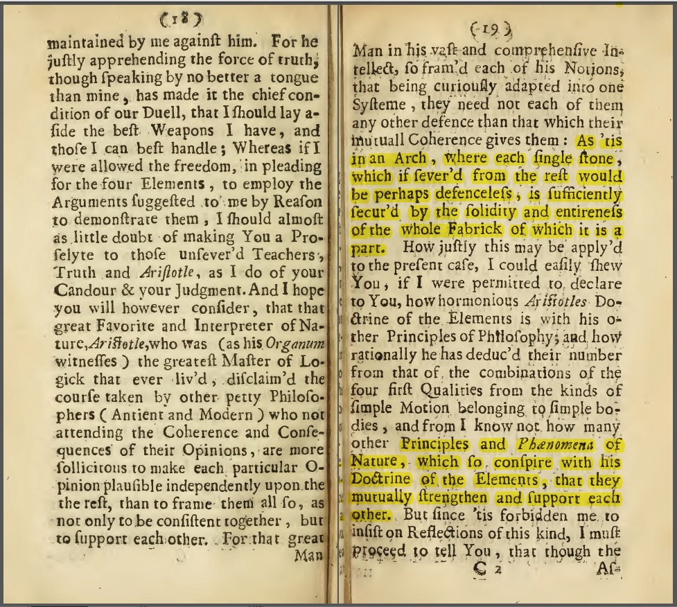 """Themistius' argument from """"The Sceptical Chymist"""" by Robert Boyle"""