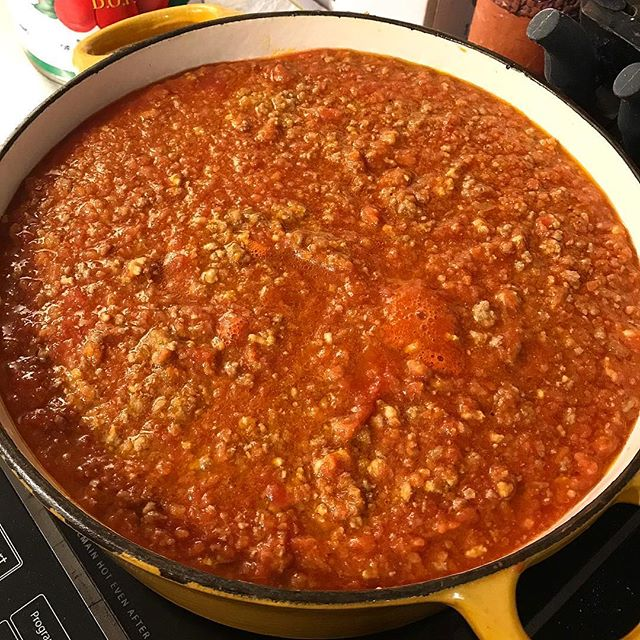 Meanwhile #backinbirminghamwithbrittne @brittnedrake has made a fresh batch of #bolognese stop in and get some and tell her I said ciao