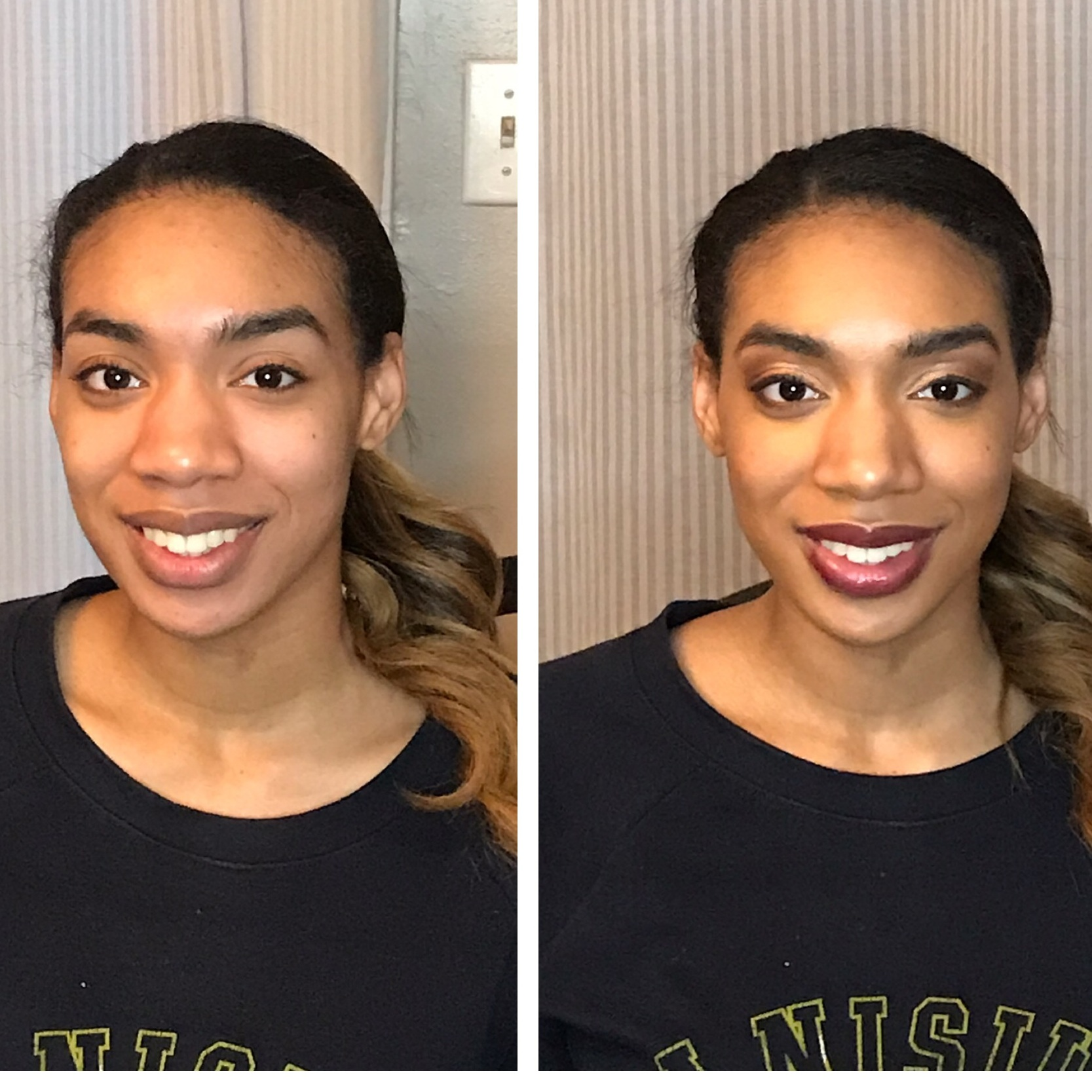 marina…this beauty is literally a stunning model and also a fav co-worker. I LOve this shade (black raspberry) on her perfectly shaped lips. Papaya & Goddess highlight, indigo contour, rose gold illuminator, black raspberry lips & cheeks. eyes: crush, coco, you complete me, bright eyes, tawanda.