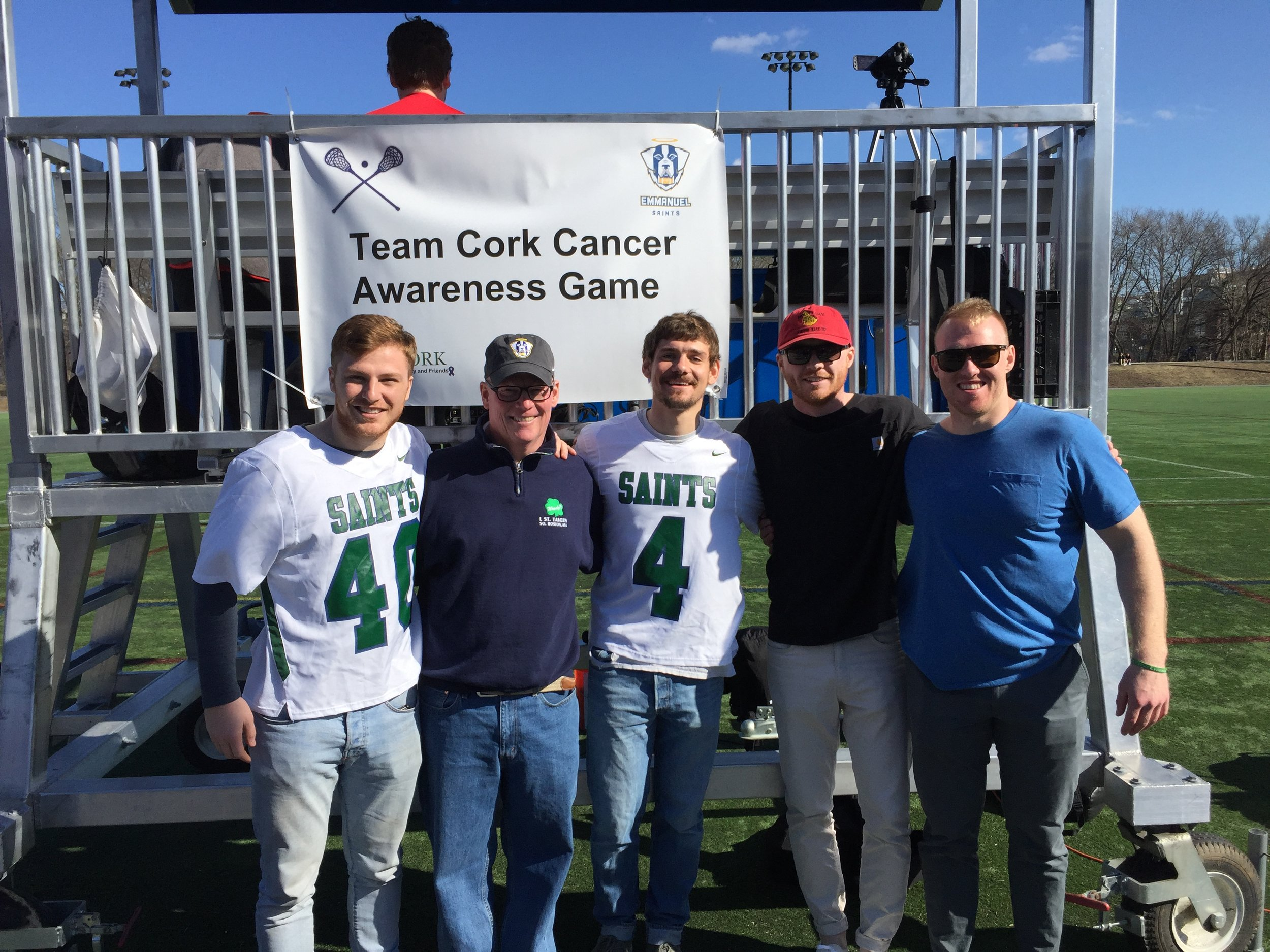 Honorary Captains and Cancer Survivors Jake Picket and Joel Berger
