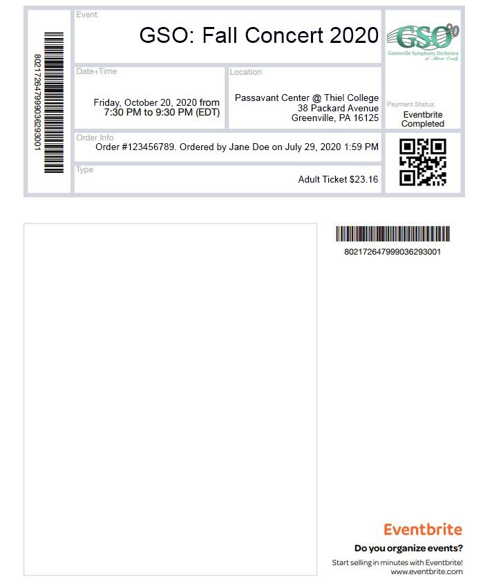 Example PDF Ticket