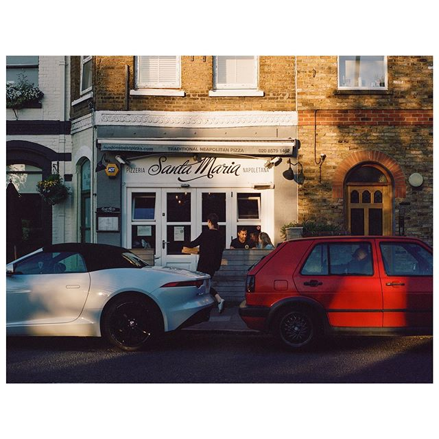 Best pizza in london 🍕 #santamaria  #portra400 #mediumformat #mamiya645 #filmisnotdead
