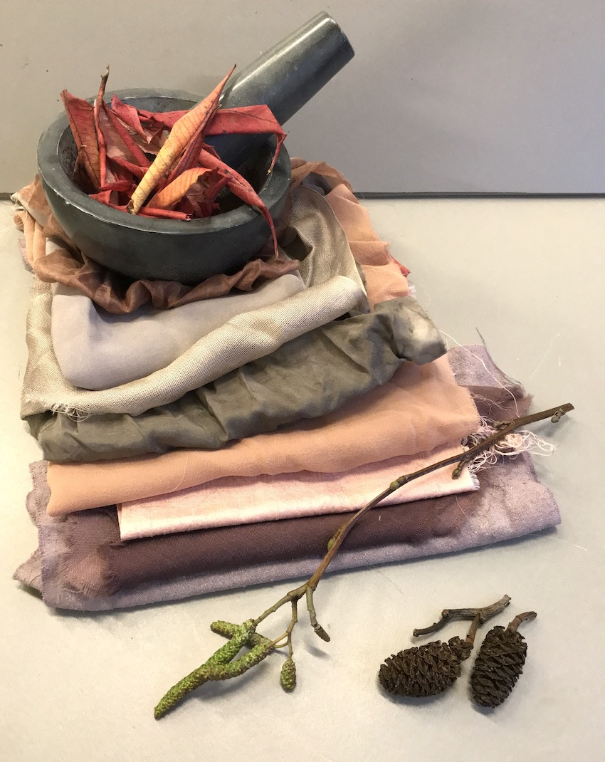 Natural Plant Dye Workshop : £85   Saturday, February 23, 2019  10:00 AM  3:00 PM  This workshop will walk you through the plant dyeing process from understanding fabric preparation - mordants. How to extract colour from different plants, making a dye bath for your prepared fabric and then, using modifiers on the dyed fabric to achieve exciting enhanced tones and shades.  *all materials included, please bring a towel and bag to carry home wet items. Green