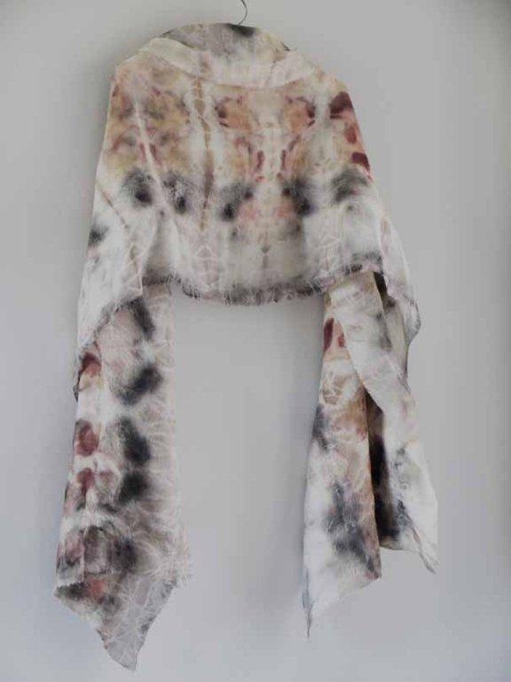 Felt Scarf Workshop : £85   Saturday, March 16, 2019  10:00 AM  3:00 PM  Wool fibres are so endlessly warm and cosy often great as an outer layer over your coat for extra warmth, or simply nuzzled against your skin. Using blends of colour from the subtle and natural tones of British wool combined with delicate silk, soya and bamboo fibres you will be immersed in the therapeutic process felt making. Simply overlaying fibres, applying warm soapy water, massaging layers to bond and strengthen fibres to then form a fabric, creating the most unique hand made loved wool scarf.  *all materials included, please bring a towel and bag to carry home wet items. Green