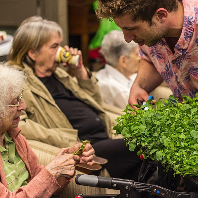 #TBT The Students of UTM's  MScSM Program working with our AEVA at a seniors home. Here are some of the photos of the delicious lunches made with our fresh ingredients — the residents are all on board. Video coming soon! . @mscsm.utm  @uoft  @uoftalumni . . . . #JustVertical #verticalfarming #urbanfarming #verticalgarden #foodie #foodsecurity #urban #sustainability #cleanfood #vegetarian #vegan #eatclean #localfood #food #healthy #fresh #farmersmarket #farmtotable #realfood #natural #cooking #health #home #homedecor #decor #interiordesign #toronto #UofT