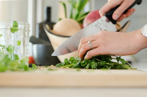 Add brightness to a dish using fresh herbs.
