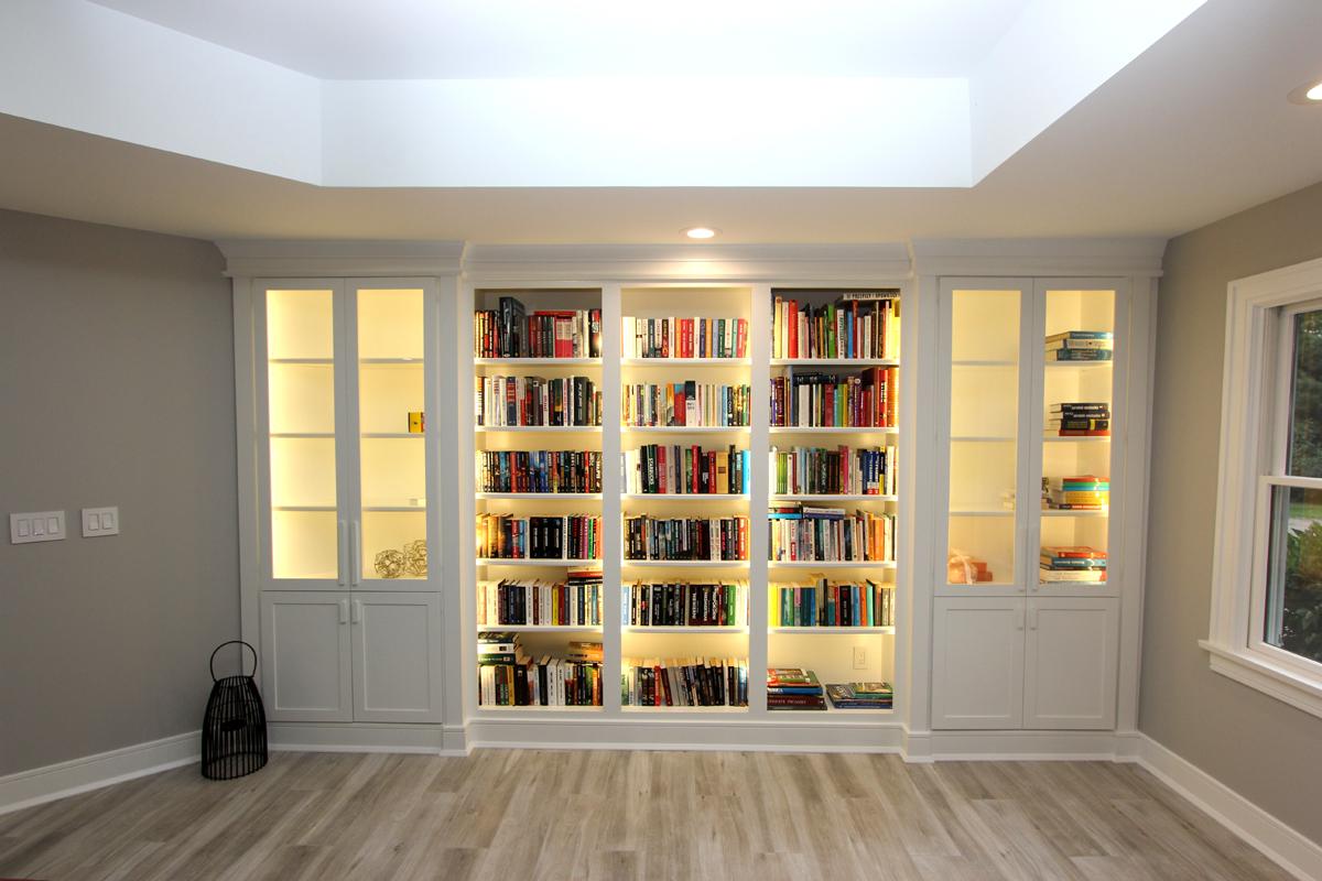 Custom Bookcases And Shelves Trim Nj