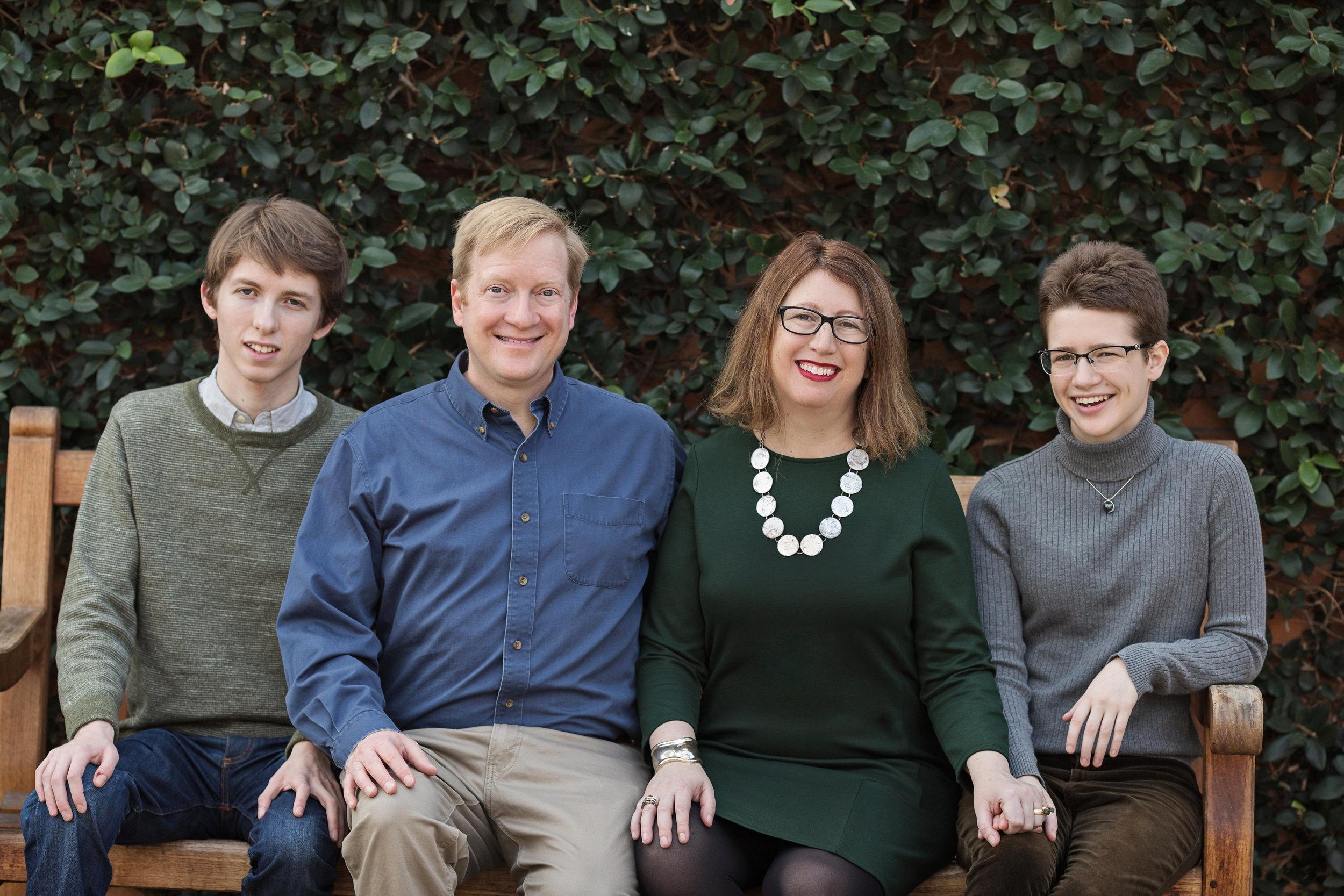 Sam Bagenstos and his wife, Margo Schlanger, with their teenage children.
