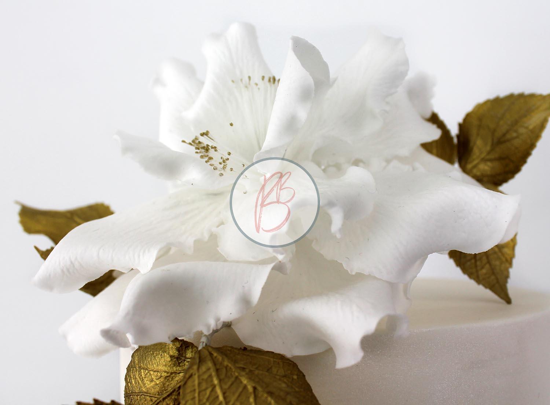 Gold Ruffle Rose Detail 1