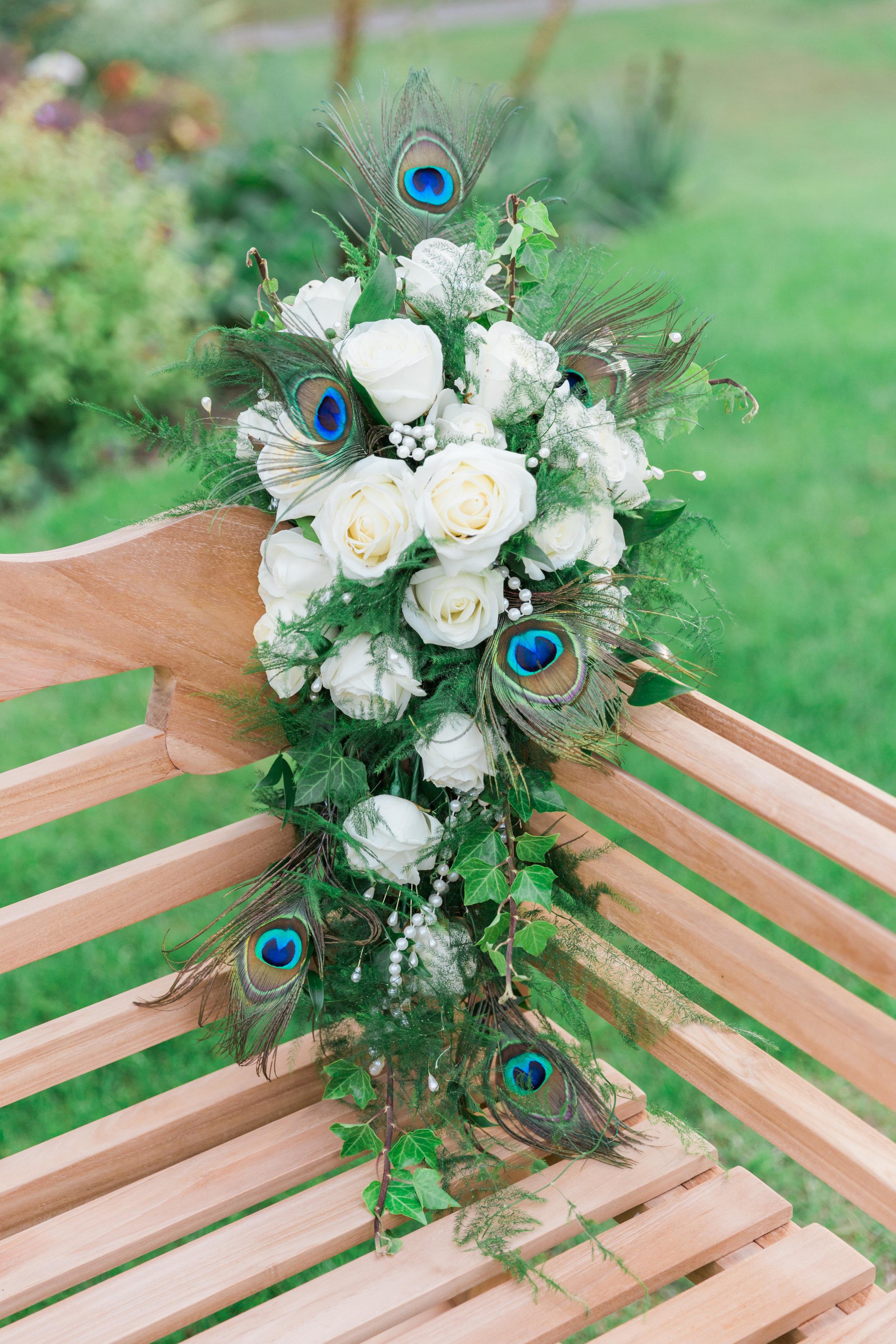 beautiful peacock wedding bouquet.jpg