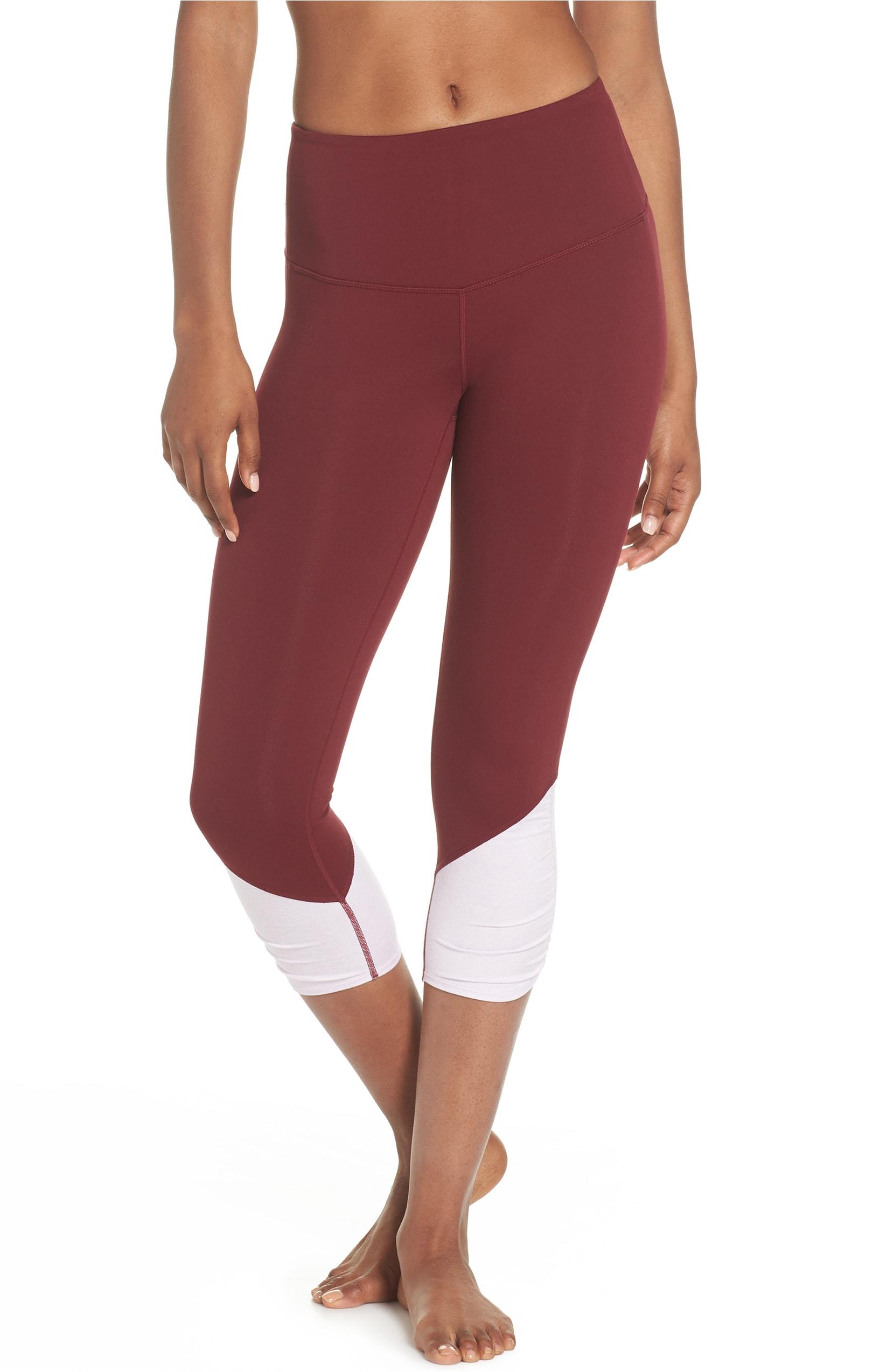 Zella Sheer Crop Legging $59