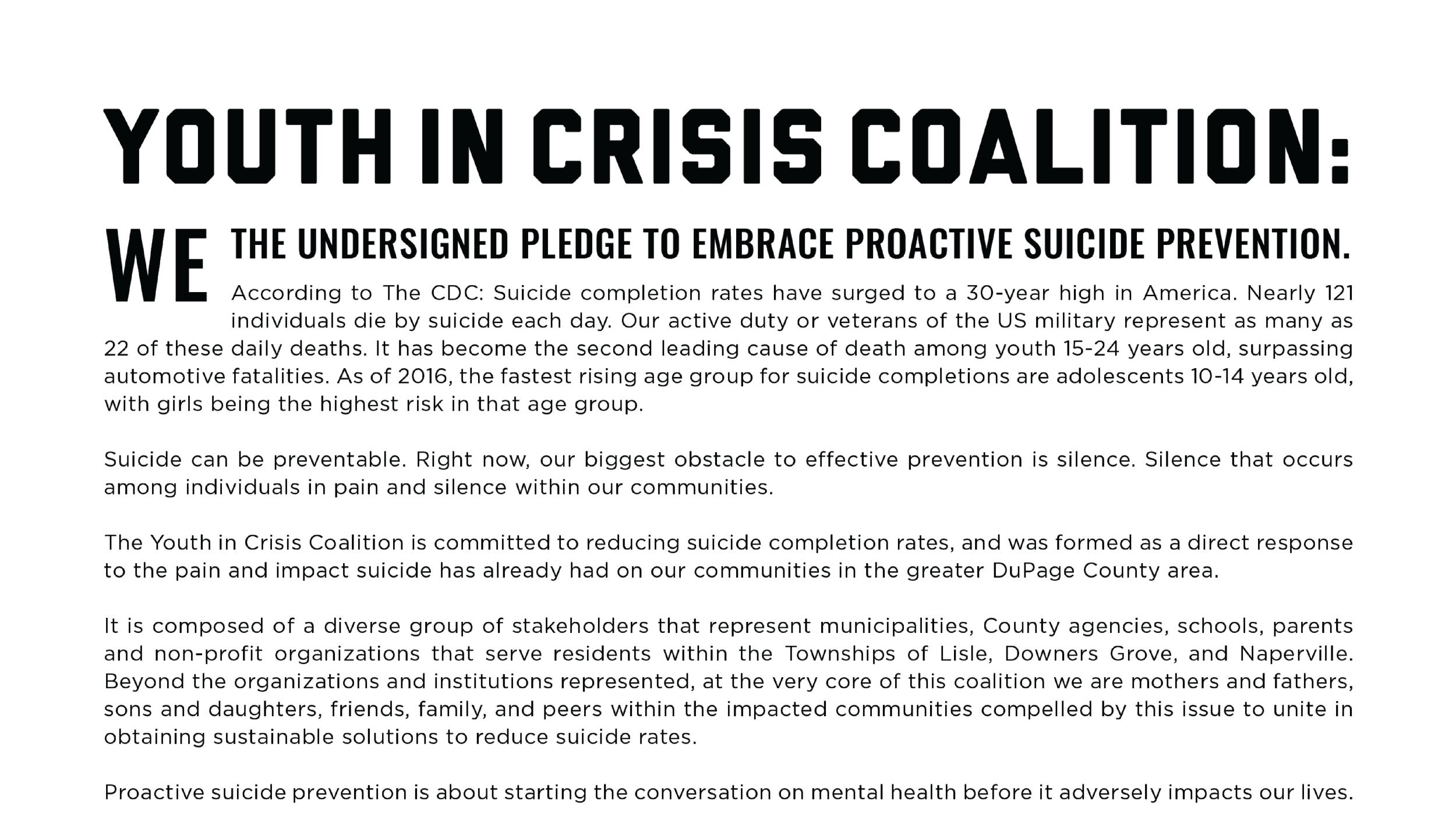 Youth in Crisis Pledge