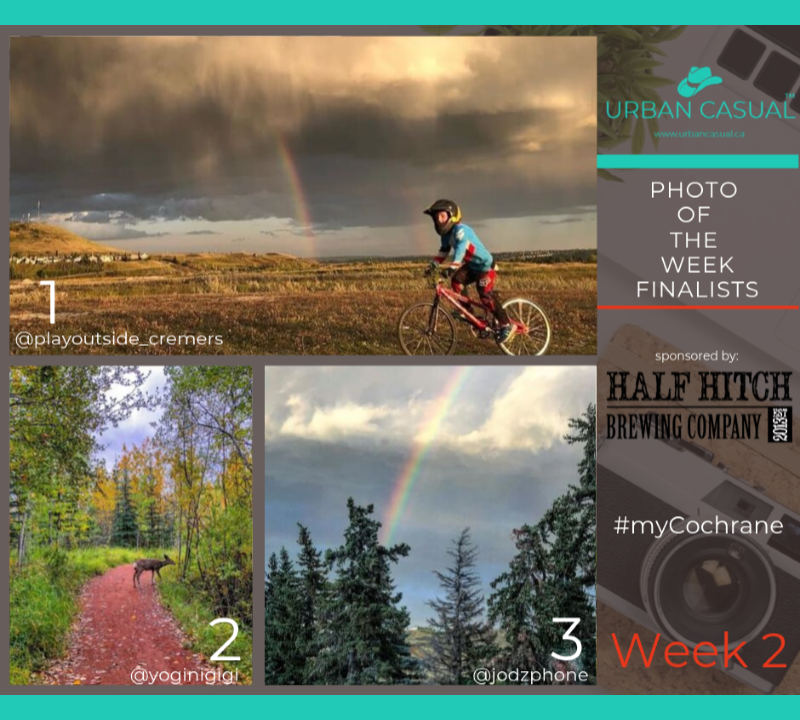 And the PHOTO OF THE WEEK finalists are: - 1/ @playoutside_cremers - BMX View2/ @yoginigigi - Fall is everywhere.3/ @jodzphone - Over the rainbow.