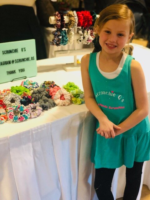 Quinnley Bruce is the designer and creator behind her business Scrunchie Q's.