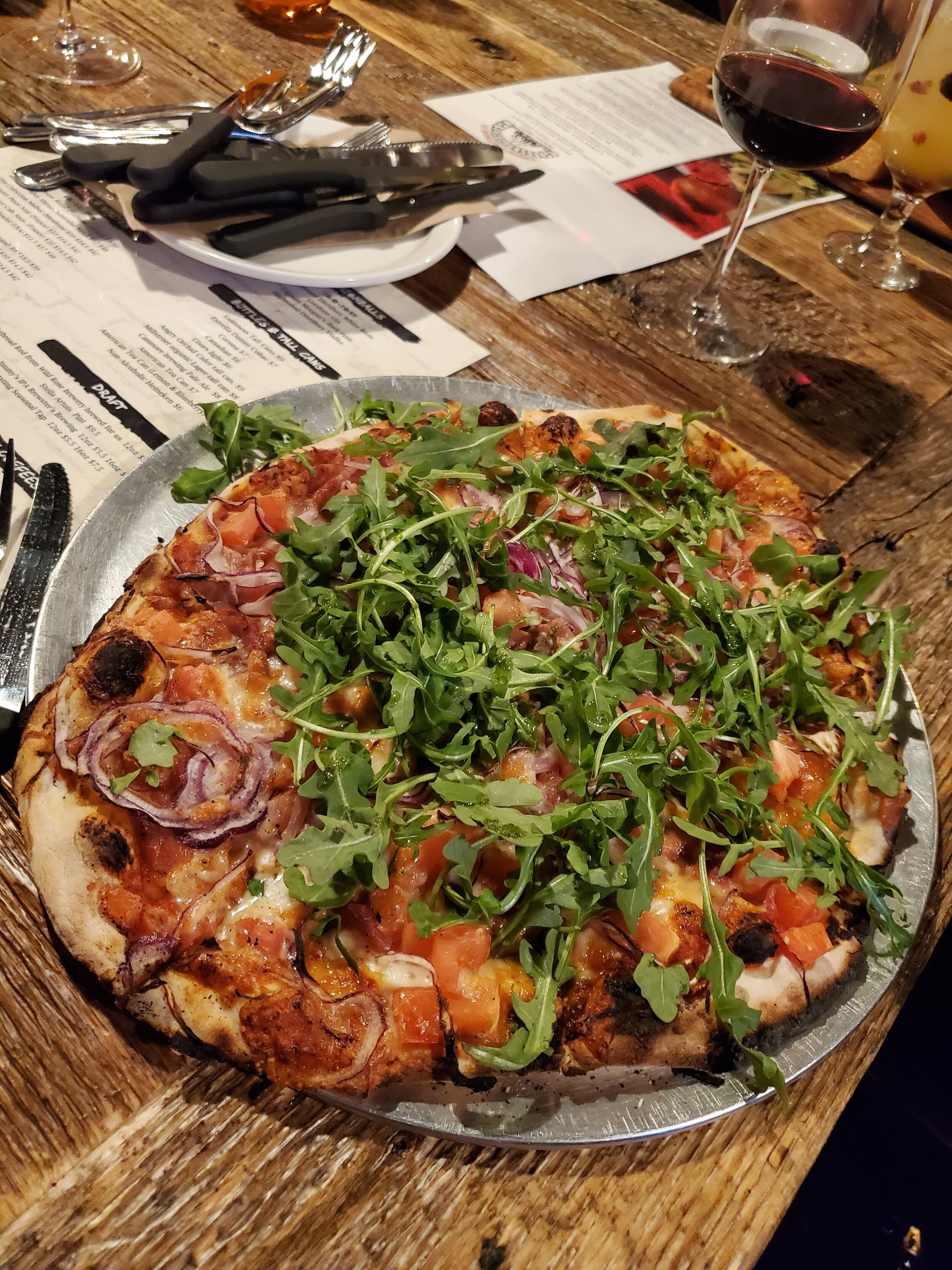 Community Flatbread Company - #1, 85 First Street E. |(403) 932-1508 - Pizza Pictured: The TuscanIf the atmosphere of this restaurant doesn't do it for you, all bets are off once you've tested their pastas and flatbreads! Nothing beats a huge pizza oven!Kids eat free with adult purchase on Sundays too!Rating - *****Cochrane's best pizza atmosphere!