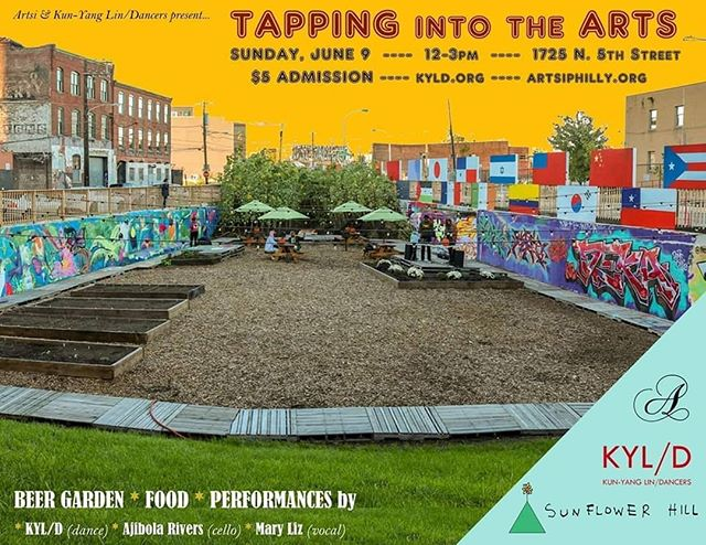 SUNDAY FUNDAY TOMORROW AFTERNOON - join us, @artsiphilly along with @kunyanglindancers & @bourbonandbranch as we start your rest of the week off with some new experiences ❤️🎭🍻 . . Pradhan Sharma: #philadelphia #philly #art #theater #nightlife #dance #musician #poetry #performance #performanceart #nonprofit #nonprofitorganization #artisits #beergarden #phillyartist #phillyart #visualart #gallery