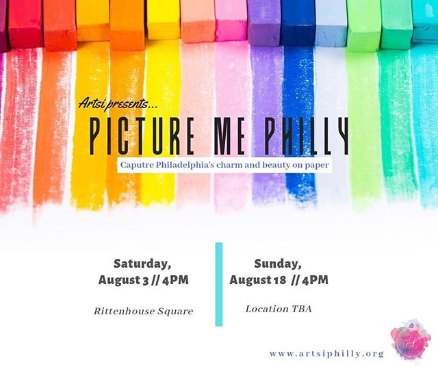 "🎨🎨🎨 Capture Philadelphia's charm and beauty on paper! With colorful pastels in hand, enjoy an outdoor afternoon with good friends, a couple drinks, and a blank canvas to capture some of Philadelphia's most beautiful landscapes. Led by painter Jessica Cantone, ""Picture Me Philly"" will guide you in the techniques of pastel drawing for yours to take home! . . . This series will accommodate 25 seats per session. . . . No experience required- RSVP today! 🎟Tickets @ $25 artsi.eventbrite.com #artsiphilly#artsi#paint#charcoal#rittenhousesquare#phillysummer#outdoorevent#colors#outdoors#philadelphiapainter#paint#drawing#creativity"