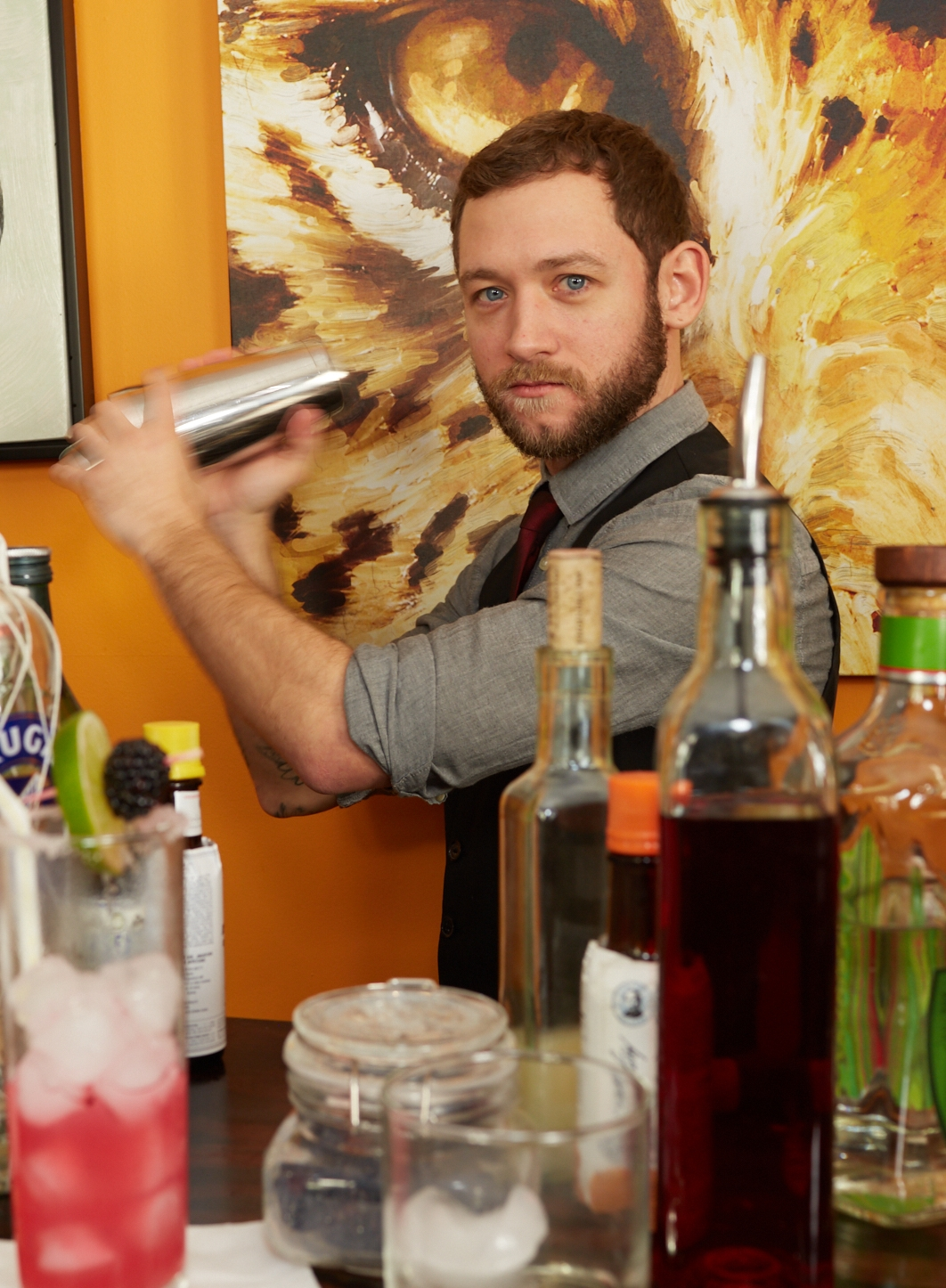 Kenny Barnes Co-Owner - Starting his mixology career at the age of 13, when his grandfather showed him how to make the perfect old fashioned, Kenny had an early lesson in hosting. You are equally likely to see him behind one of our bars, or running around behind the scenes making sure the party is running just right.