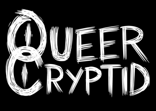"""Queer Cryptid"" B&W Logo T-Shirt Design"