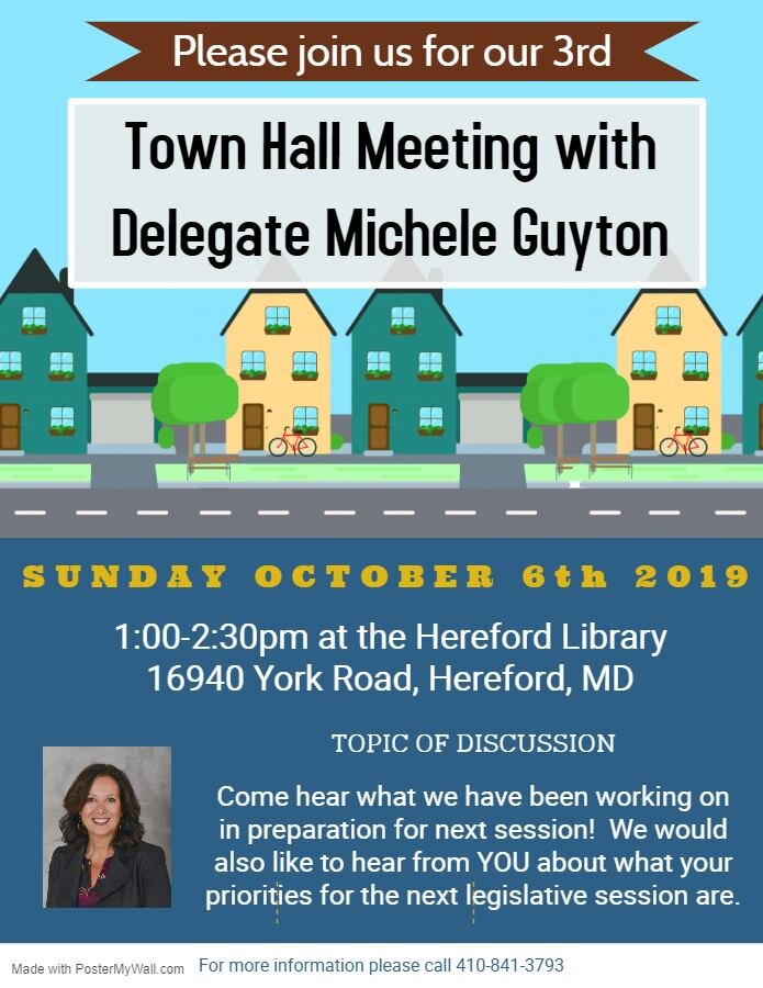 Join Us For Our Town Hall! - I hope you can join me for a conversation about what we have been working on over the interim and what we plan on introducing this upcoming session!