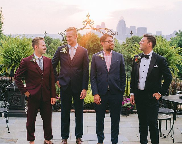 Pursuit in Over the Rhine @pursuit_otr has amazing men's wear for all of life's most precious moments  Photographer: @brittanybaysphotography Venue: @whillmansion Suits: @pursuit_otr Floral: @countryheartky