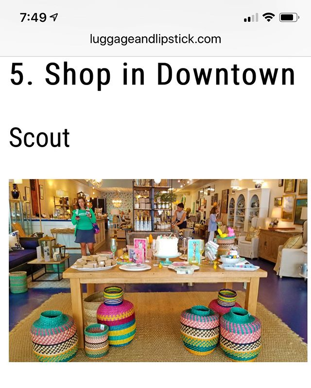 Thrilled to be included in @luggageandlipstick Thank you Patti! 🧳💄#toptenthingstodoinBeaufort #shop #downtown #luvbft
