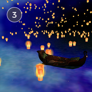 TANGLED LANTERNS - Have you ever floated serenely on a glowing, vibrant sea, under the beautiful night's sky and hundreds of floating lanterns? It's time to change that with this Tangled-inspired scene, straight out of a fairytale.Created by Stitcher