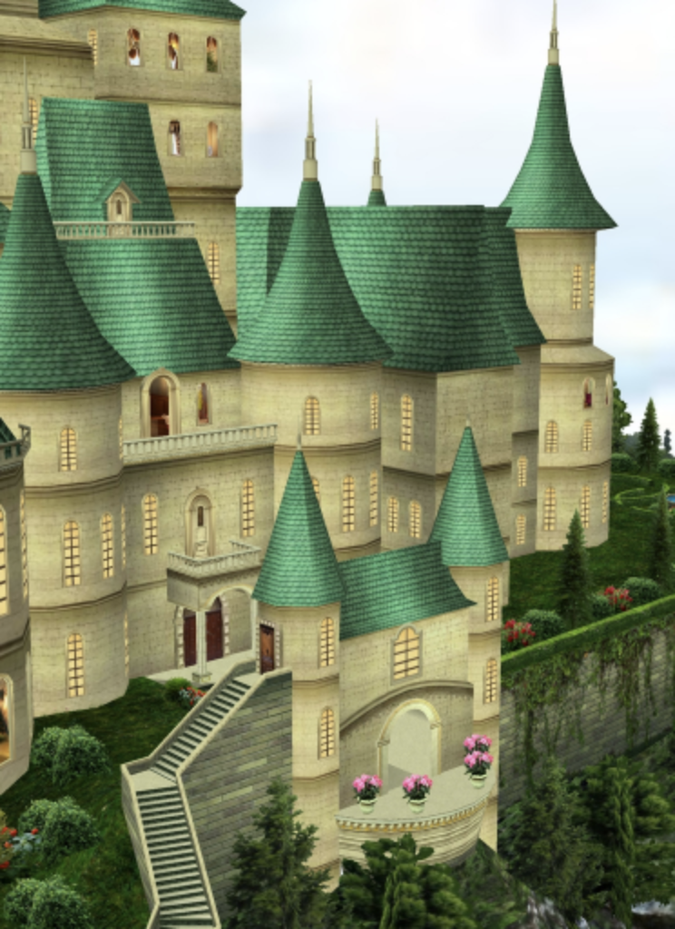 Fantasy Castle, viewed from the Balloon