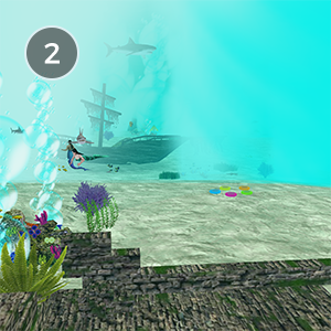 DEEP SEA FANTASY - A'hoy there, mates! Explore the depths of the sea in this fun and interactive underwater experience! Bring your favorite scuba gear or merfolk outfit to swim with the fishes, explore ancient ruins, and find danger lurking in the deep!Created by IlluminatiStorm