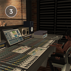 FINAL STUDIO - Wanna be a rock star? Or maybe make the next big album? You and your friends can make it big in the studio! Play the drums or guitar in the band or better yet, sing your heart out at the mic! You can also be the mix master at the sound board, making the band their best!Created by HenkWasHere