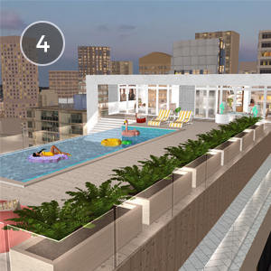 PENTHOUSE POOL PARTY - Want to cool off but are nowhere near a beach? Grab a friend and a fabulous floppy hat and jump into a pool with amazing views of the city in Penthouse Pool Party!Created by IMyaW