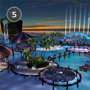 BLUE LAGOON - This room screams summer night vibes. Explore each of the interconnected bungalows Blue Lagoon has to offer, and meet fun new friends along the way!Created by Panssi3
