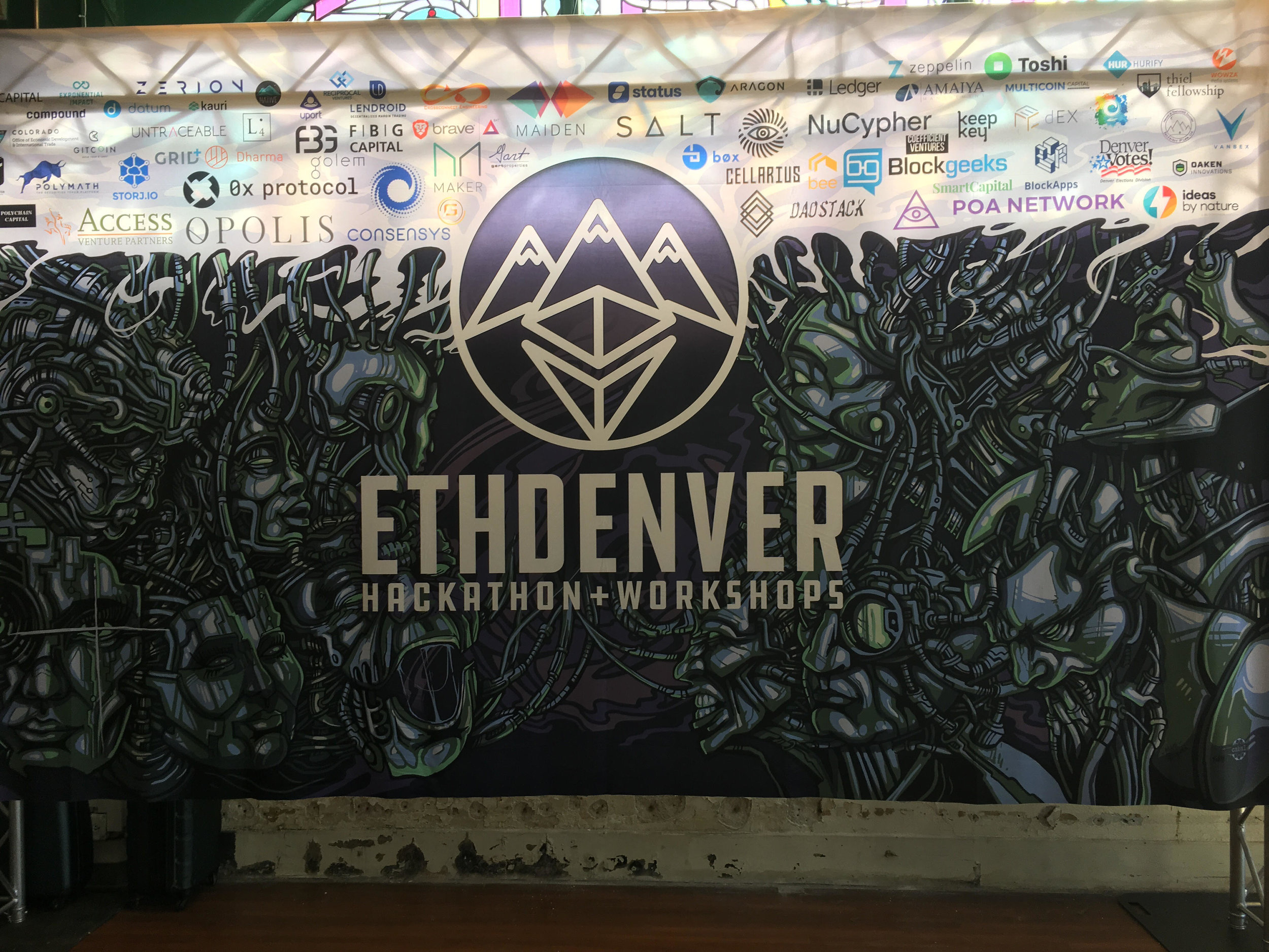 Figure 1. ETHDenver Hackathon, February 16 - 18, 2018