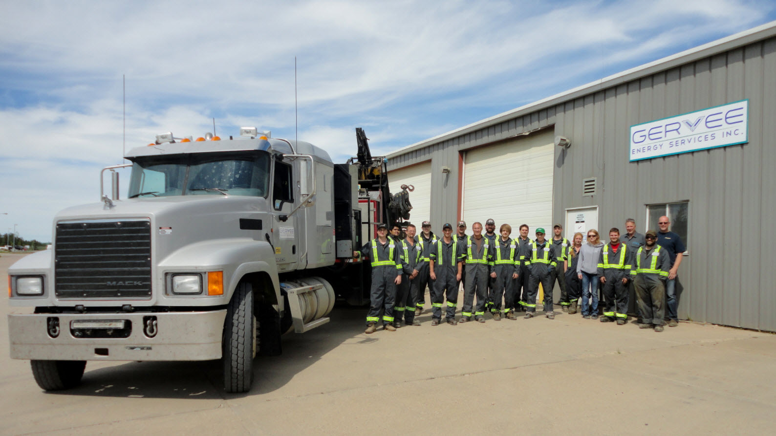Our Staff posing for a pic for our article in the Truck News