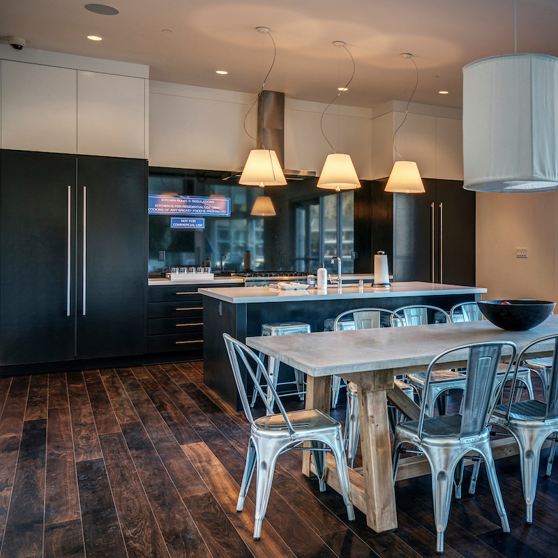 The Clubhouse kitchen at The Cove at Tiburon can be rented by residents for private events.