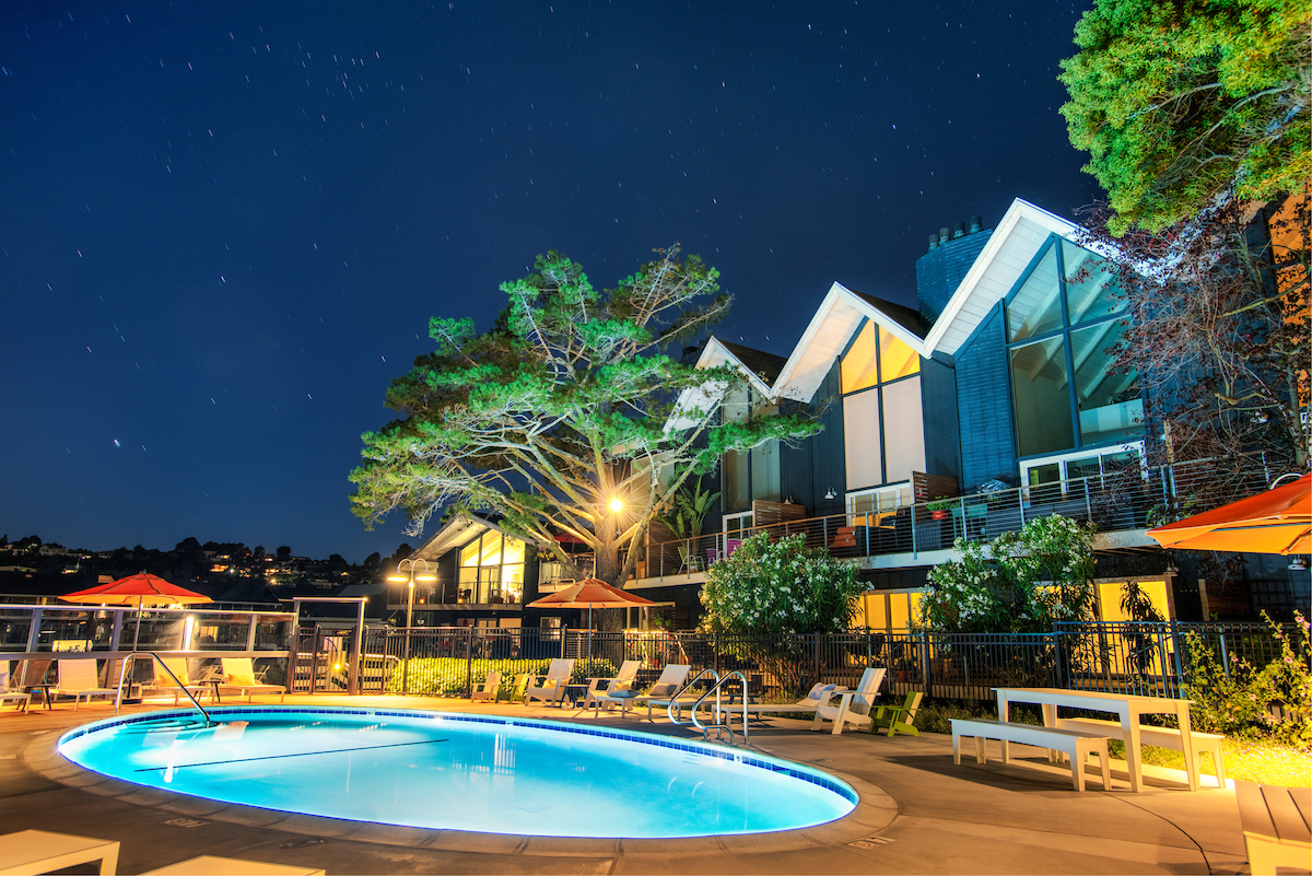 The Cove at Tiburon has two outdoor, freshwater pools and an outdoor spa