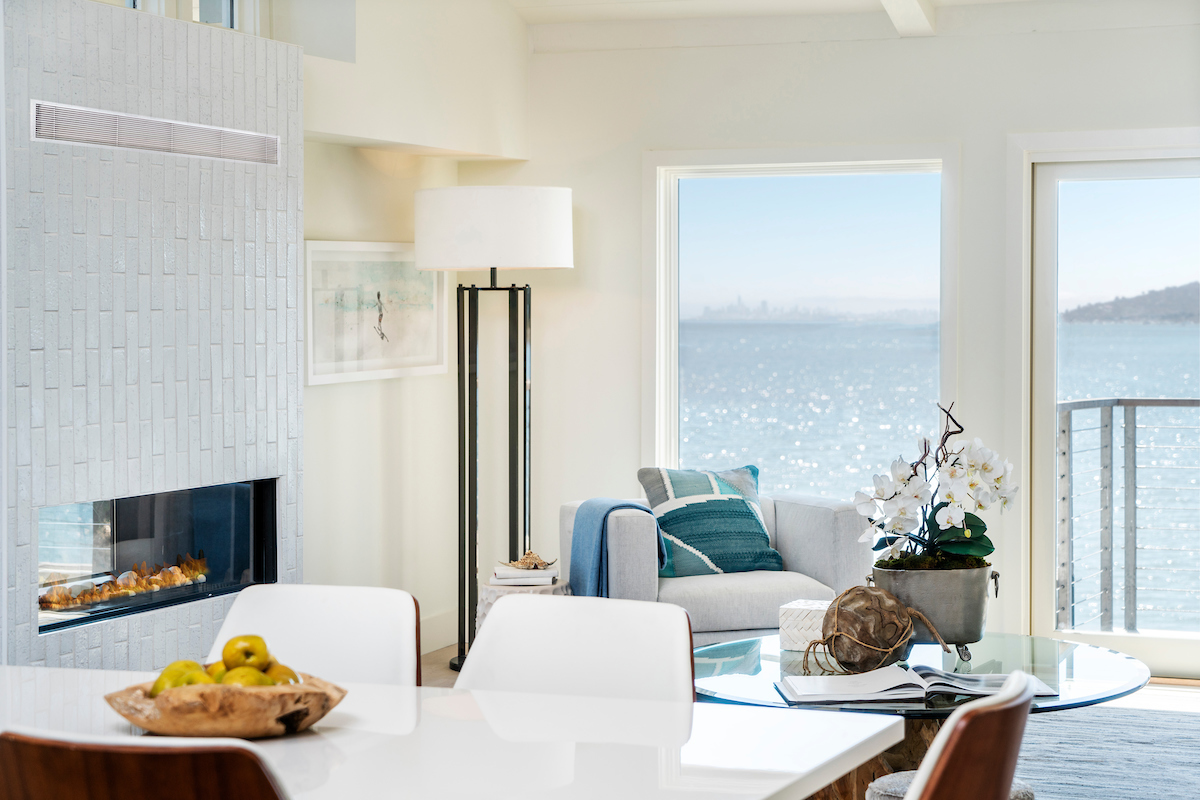 The Point at Cove apartment homes offer stunning skyline views and gas burning fireplaces