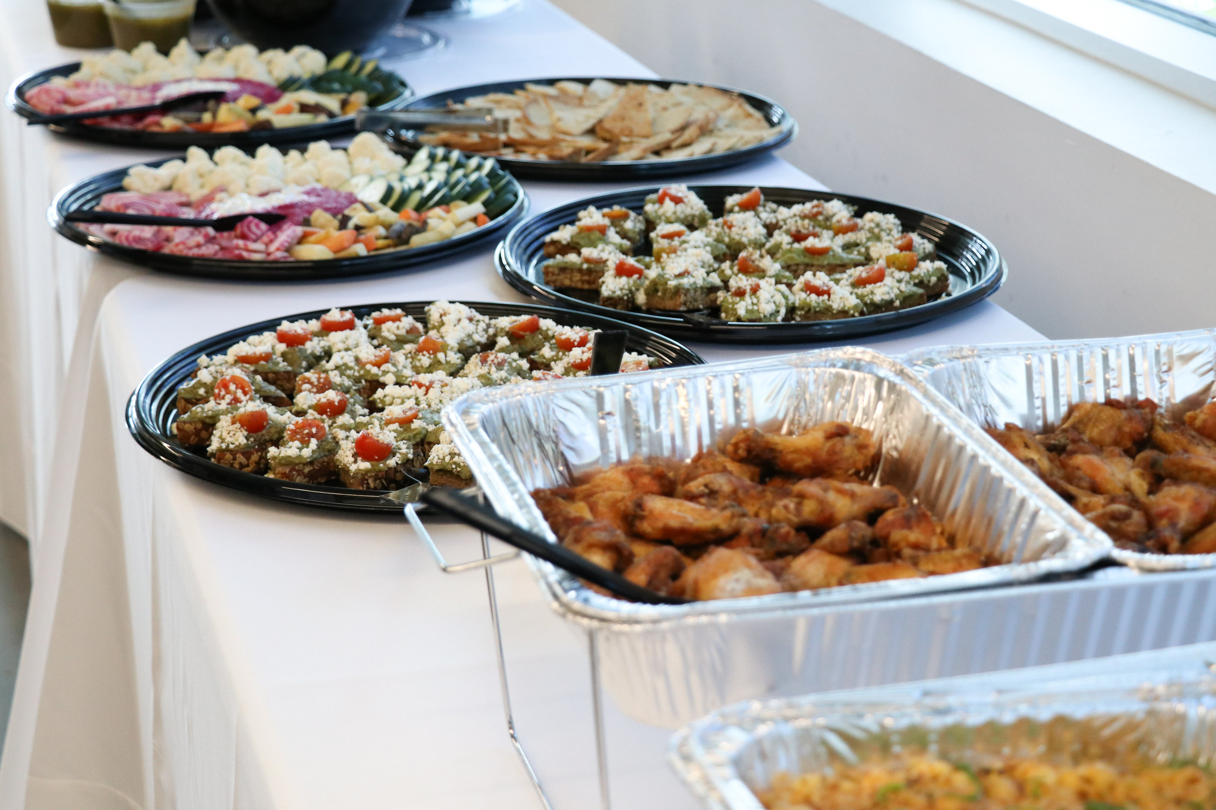 A delicious spread of food provided by Irene's Catering