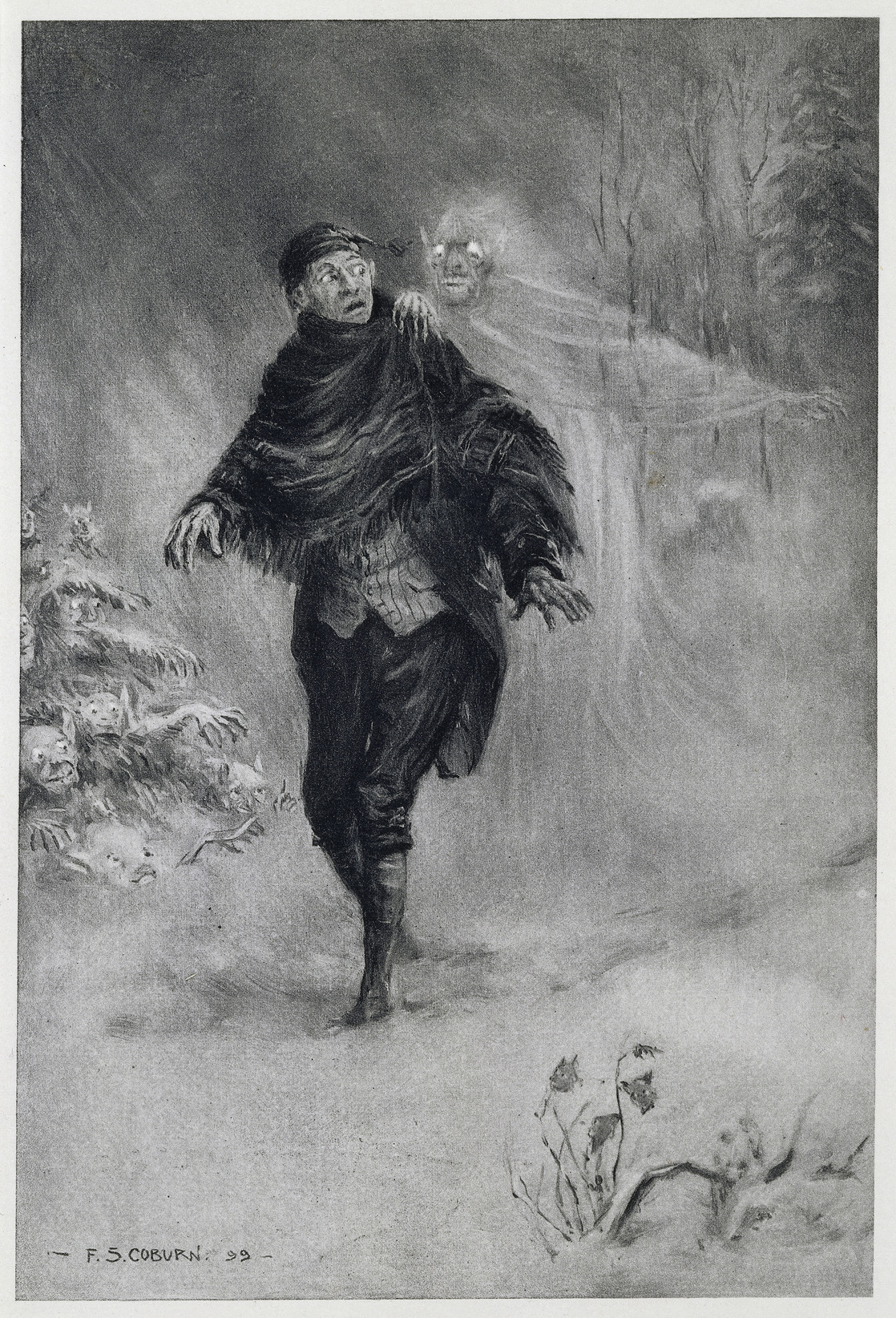 Image taken from  The Legend of Sleepy Hollow .  Originally published/produced in New York, G.P. Putnam's Sons, 1899.  Taken from  Wikimedia Commons . Ultimately from the British Library by way of  Flikr Commons .