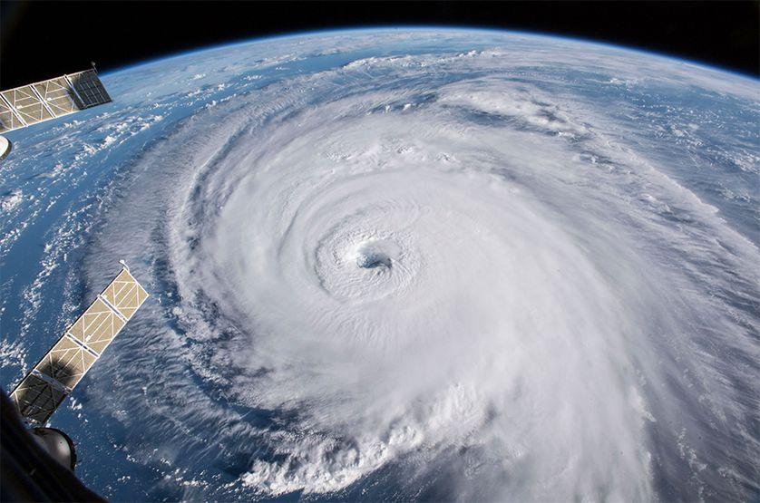Hurricane Florence Seen from Orbit (NASA)