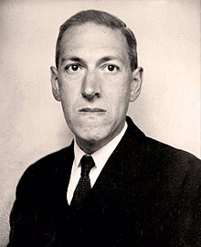 H.P. Lovecraft, seen here  probably hiding a bird in his mouth . (Wikimedia Commons)
