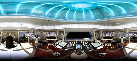 panorama shot of the bridge from  Star Trek  (2009) — which could easily double as an Apple store.