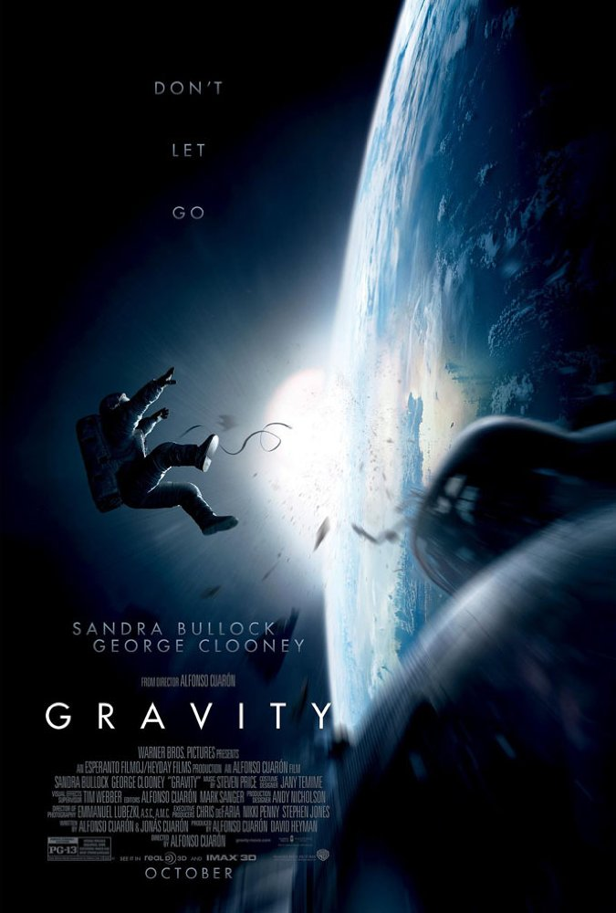 The poster for Gravity (2013) — the last major studio film that wasn't based on an existing property which was in the top ten highest grossing for the year.