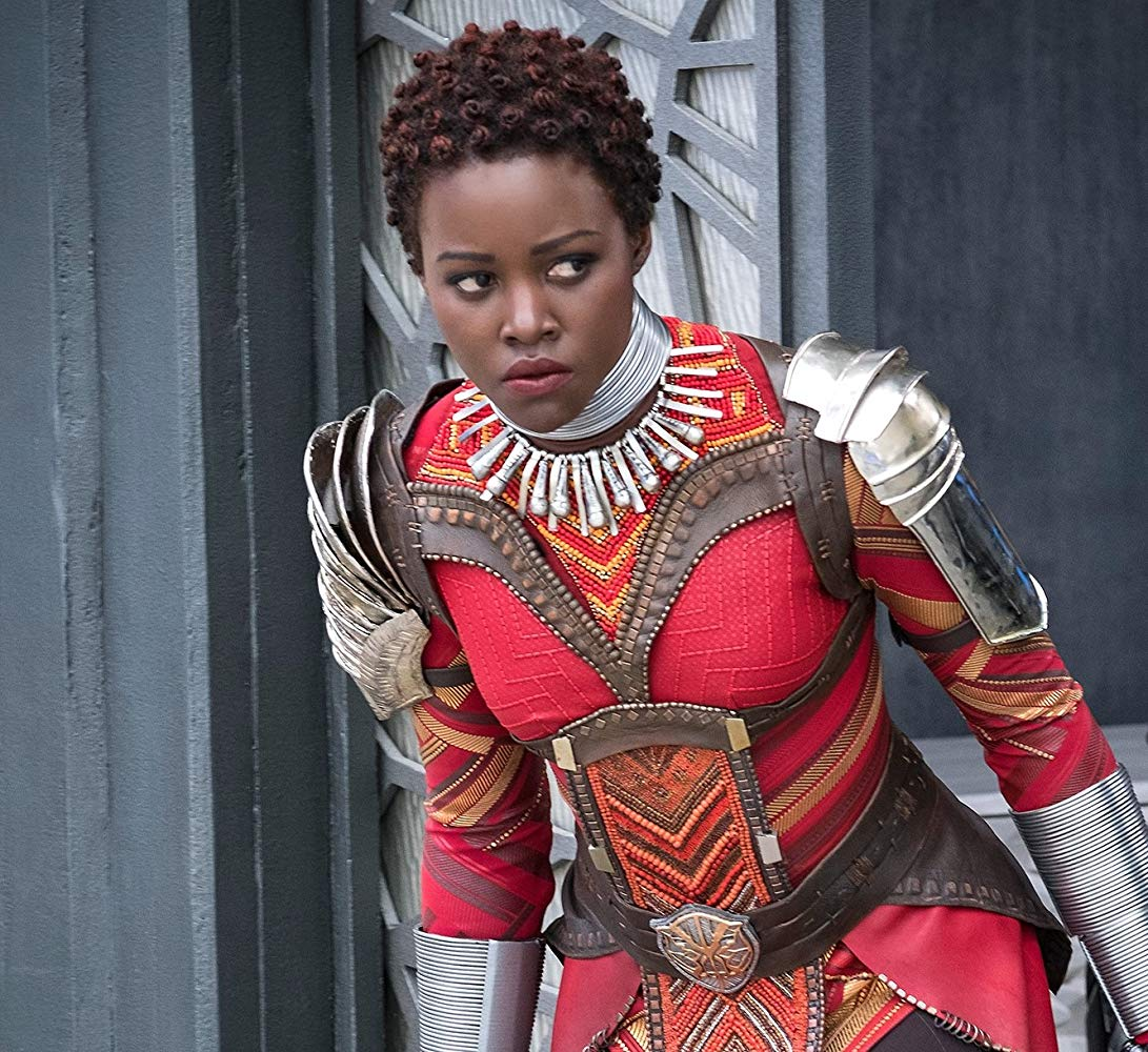 Lupita Nyong'o as Nakia in  Black Panther  (2018).